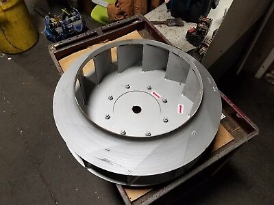 New 27 Od Steel Centrifugal Blower Impeller 1-12 Bore 19-18 Id Sbc-8