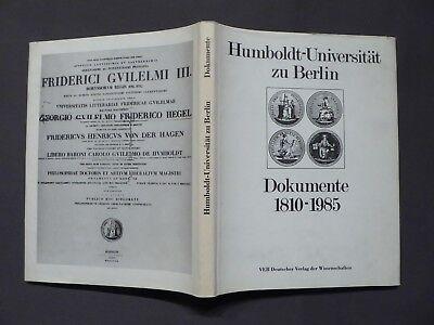 Buch, Humboldt Universität zu Berlin, Dokumente 1810-1985, DVW, DDR 1985