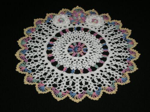New Handmade Easter Doily Crocheted Rose/ Flowers