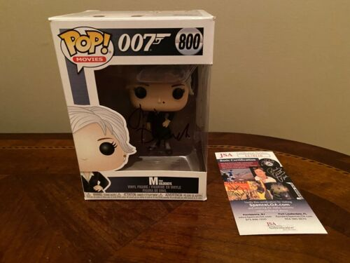 "Funko Pop Movies 007 ""M from Goldeneye""- #800 Autograph- Judi Dench JSA COA"