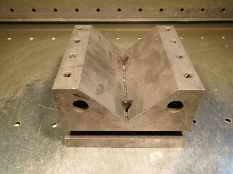 "6"" x 6"" x 4"" h Precision Ground Machinist Mill V-Block: 3-7/8"" w x 1-3/4"" h Vee"
