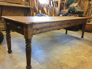restored harvest dinning table