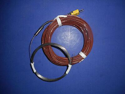 Nanmac Type K Extra-long 120 Thermocouple Probe .040 Dia 62 Ft. Cable