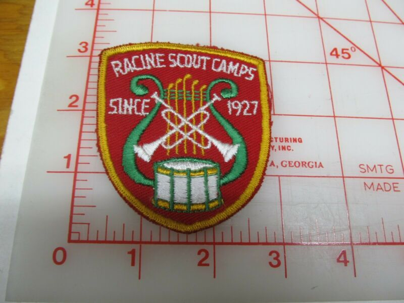 Racine Scout Camps Since 1927 collectible camp patch (g36)