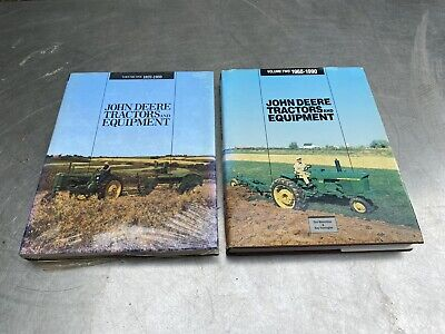 Vtg John Deere Books Tractors Equipment Volume 1 2 Lot Parts Catalog Farm