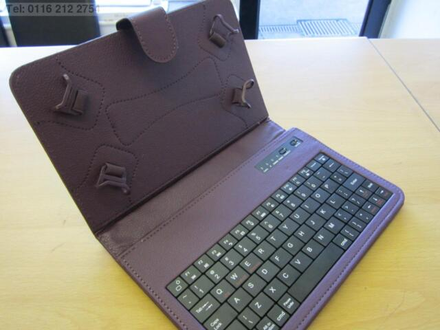 """Purple Bluetooth Keyboard Carry Case & Stand for BlackBerry PlayBook 7"""" Tablet"""