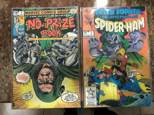 STAN LEE COVER THE OFFICIAL MARVEL NO-PRIZE BOOK 1 + PETER PORKER SPIDER-HAM NM