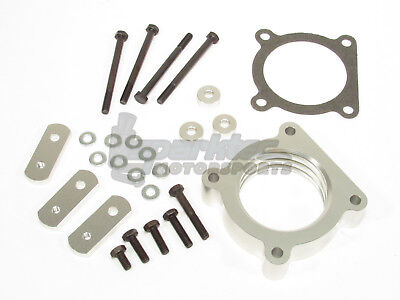 DFJ Performance Throttle Body Spacer Silver 2004 2015 Toyota Tacoma 40L V6 ALL