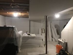 Framing, Insulation, Drywall, Taping, Prime/Paint