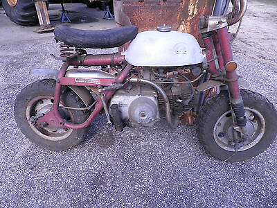 BARN FIND 50 MINI TRAIL HONDA MINI TRAIL 50 MINI TRAIL FRAME AND ENGINE