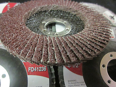 100pc Aluminum Oxide 36 Grit 4-12 Sanding Grinding Wheel Flap Disc 78 Arbor