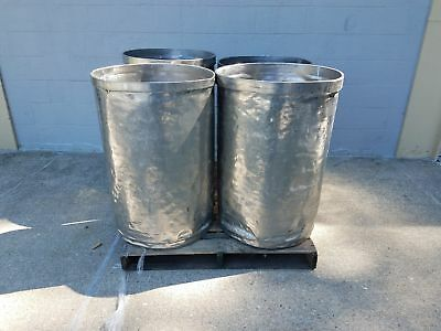 Used Open Top Stainless Steel Drums 4 Pack Lot Number 9