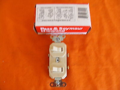 New Old Stock Legrand Combo Switch 670-1 120277 Volts 20 Amp Ivory Usa