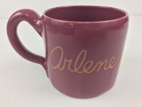 Bybee Pottery Raspberry Pink Red Mug Arlene