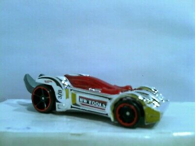 Loose Hot Wheels Tooligan Silver and Red - Wrench Car - L427