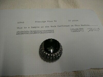 Ibm Selectric Iii Prestige Pica 10 96 Element See Pictures Of Print Below