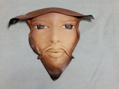 Handmade Signed Doug Gibson Leather Mask