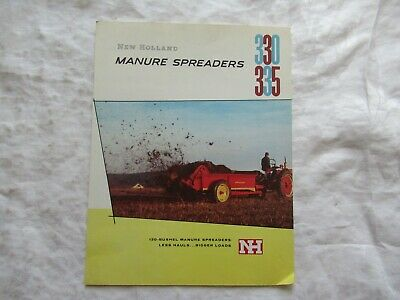 1957 New Holland 330 335 Manure Spreaders Brochure