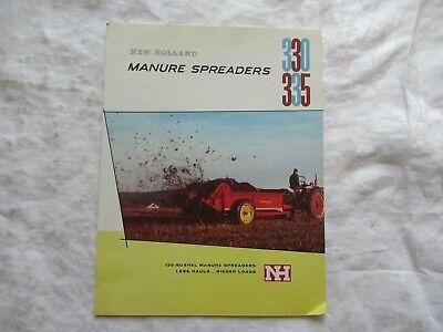 1957 New Holland 330 335 Manure Spreaders Brochure