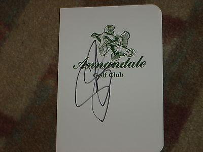 Scott Stallings Sanderson Farm Championship  Signed  Annandale Scorecard