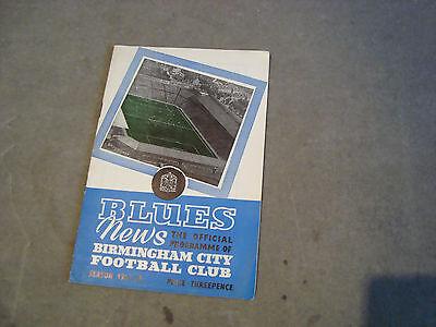 Birmingham v Sampdoria Dec 1957 Floodlight friendly