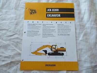 Jcb Js200 Excavator Brochure