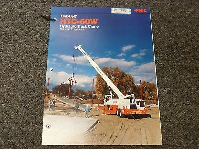 Link-belt Htc-50w 50 Ton Truck Crane Specifications Lifting Capacities Manual