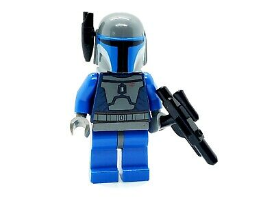 LEGO STAR WARS MANDALORIAN WATCH WARRIOR MINIFIGURE SW0296 MINIFIG BLUE GRAY