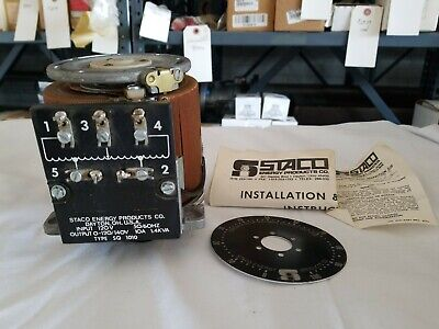 Staco Type Sq 1010 120v 10a 1.4kva Variable Transformer New