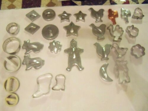 Lot of 30 Vintage Cookie Cutters
