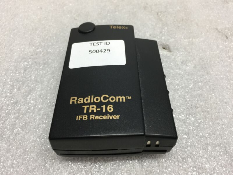 Telex RadioCOM TR-16 16 Channel IFB Receiver - TESTED & WORKING - FAIR Condition
