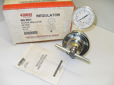 New In Box Concoa 8069931 Oxygen Station Regulator Cga-024 40psi