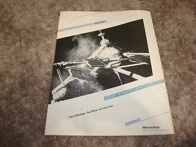 MOONRAKER 1979 Oscar ad for Best Visual Effects, Roger Moore as James Bond