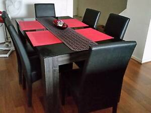 Near New 6 Seater Dining Table + Leather Like Dining Chairs Newstead Brisbane North East Preview