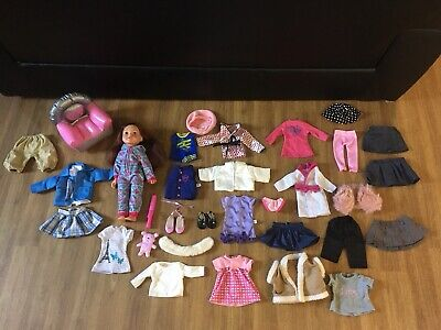 Design A Friend 18 Inch Doll Clothing Accessories Bundle Hair Chair Shoes Hat