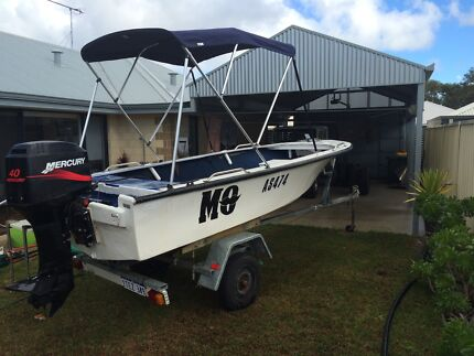 14ft Fibreglass dinghy 40 hp Mercury Dunsborough Busselton Area Preview