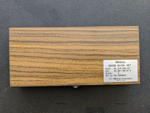 Mitutoyo 516-935-22 Inch Gage Block Set