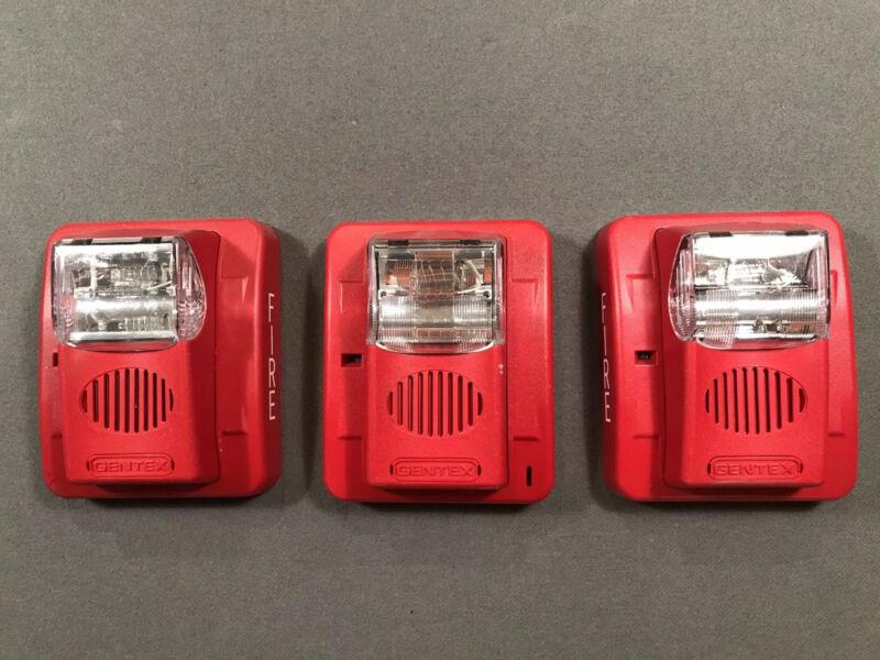 Gentex Fire Alarm Horn Strobe Lot