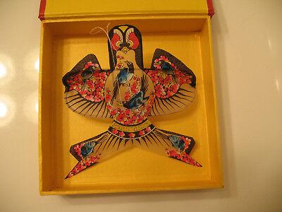 Weifang Kites China Small Bird Miniature Fabric Silk ? Bamboo ? in Box