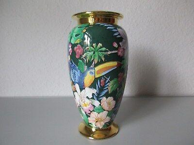 Super schöne VINTAGE Vase-floral-Papageienvase-latest 80's