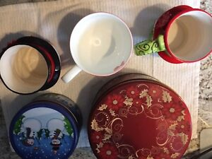 Christmas mugs & Tins