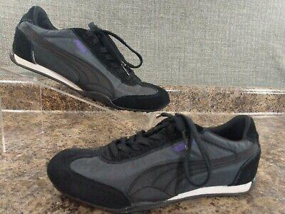 Puma Eco Ortho Lite Womens Running Track Shoes Black Purple Size 7