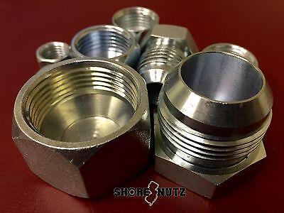 24 Pc Lot Jic Plug And Cap Hydraulic Fittings Bundle Kit 4 - 16