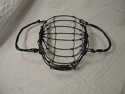 Vintage Woven Wire Wine Basket Metal Bottle Holder 10 X 612 X 4 Tall