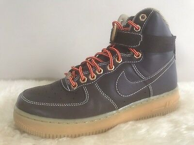 4ae90a492c3c Nike Youth Air Force 1 High GS Brown Basketball Shoes Sz 6.5 Y 653998-200