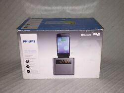 Philips AJT3300/37 Bluetooth Dual Alarm Clock Radio Charging Station iPhone 5