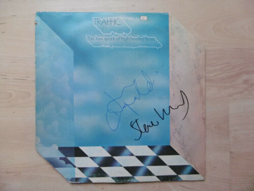 """Traffic Autogramme signed LP-Cover Vinyl """"The Low Spark Of High Heeled Boys"""""""