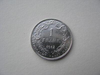 monnaies albert I 1 frank en néerlandais 1912 argent TTB