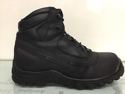 Iron Age Black Leather Steel Toe Work Boots Mens Size 12 W