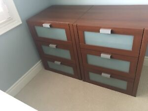 3 DRAWER STORAGE DRESSERS/NIGHT STANDS  PART OF IKEA PAX SYSTEM